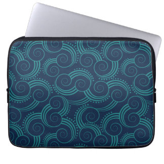 Capa Para Laptop Ondas de oceano de Swirly
