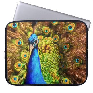 Capa Para Laptop Pavão colorido