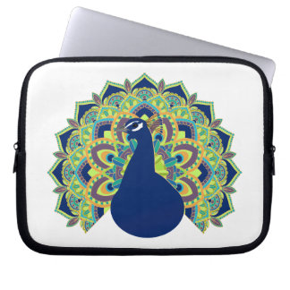 Capa Para Laptop Pavão da mandala