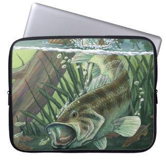 Capa Para Laptop Pesca da perda Largemouth
