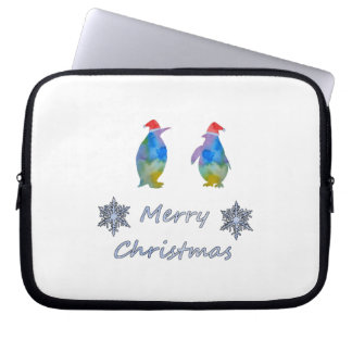 Capa Para Laptop Pinguins do Natal