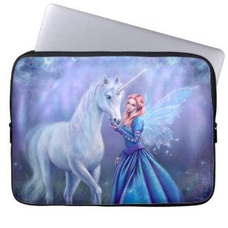 Capa Para Laptop Rhiannon - unicórnio e bolsa de laptop da arte da