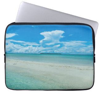 Capa Para Laptop Seascape tropical azul, Palau