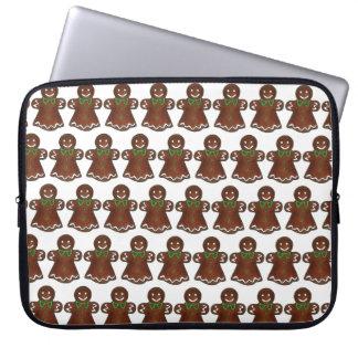 Capa Para Laptop Senhora Mulher Natal Feriado Biscoito do
