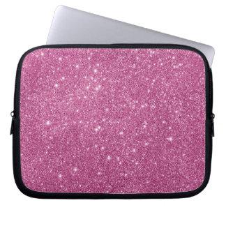 Capa Para Laptop Sparkles do brilho do rosa quente