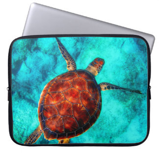 Capa Para Laptop Tartaruga de mar colorida
