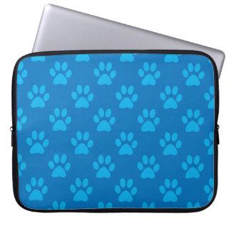 Capa Para Laptop Teste padrão azul das patas do filhote de cachorro
