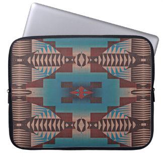 Capa Para Laptop Teste padrão de mosaico tribal vermelho escuro