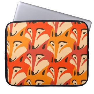 Capa Para Laptop Teste padrão do dente de cão da cara do Fox