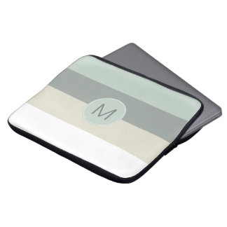 Capa Para Laptop Teste padrão minimalista legal das listras com seu