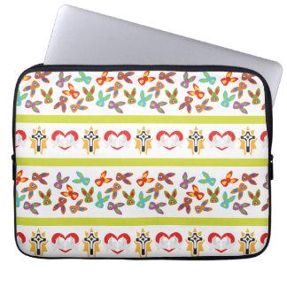 Capa Para Laptop Teste padrão psicótico da páscoa colorido