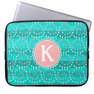 Capa Para Laptop Turquesa & bolsa de laptop das ondas do coral