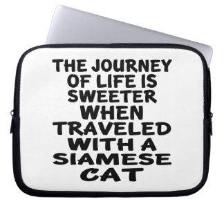 Capa Para Laptop Viajado com gato Siamese