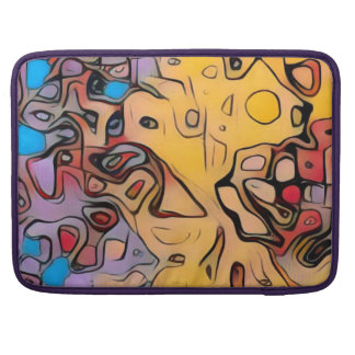 Capa Para MacBook Abstrato Funky do amarelo