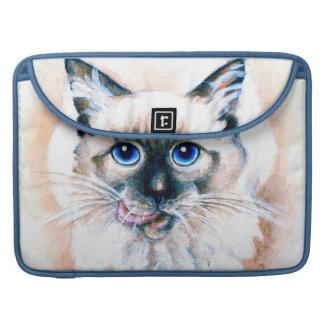 Capa Para MacBook Aguarela do gato Siamese