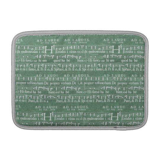 """Capa Para MacBook Air Ar medieval 11"""" de Macbook do manuscrito da música"""