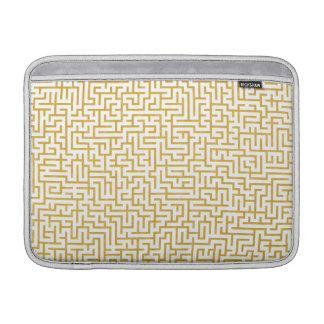 Capa Para MacBook Air Arte moderna elegante do labirinto - ouro & branco