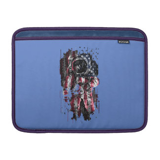 Capa Para MacBook Air Astronauta e bandeira americana
