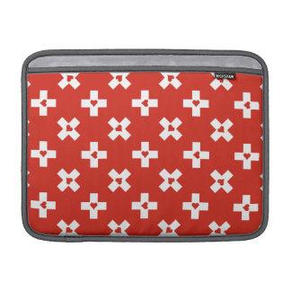 Capa Para MacBook Air Bandeira da suiça com teste padrão do coração