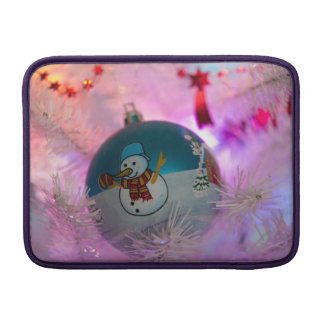 Capa Para MacBook Air Boneco de neve - bolas do Natal - Feliz Natal