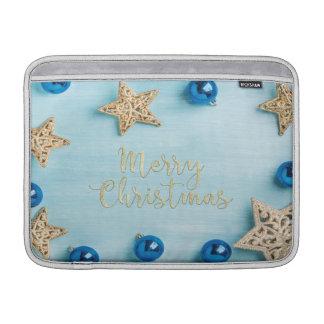 Capa Para MacBook Air Brilho festivo do Feliz Natal dos Baubles das