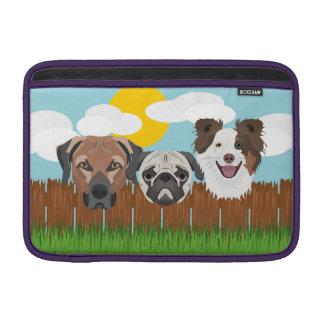 Capa Para MacBook Air Cães afortunados da ilustração em uma cerca de