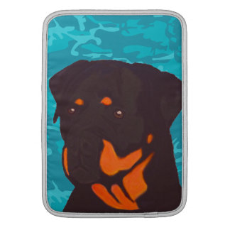 Capa Para MacBook Air Camo azul com Rottweiler