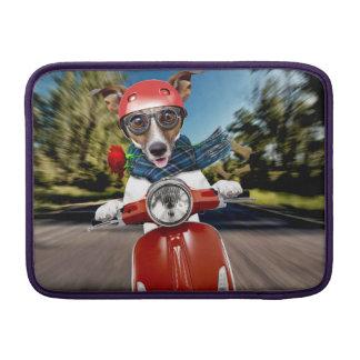 Capa Para MacBook Air Cão do patinete, jaque russell