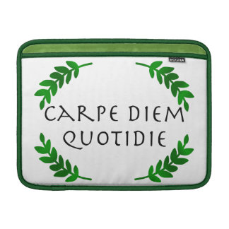 Capa Para MacBook Air Carpe Diem Quotidie - apreenda o dia, cada dia