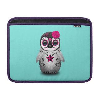 Capa Para MacBook Air Dia cor-de-rosa do pinguim inoperante do bebê