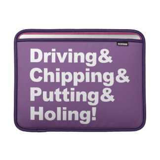 Capa Para MacBook Air Driving&Chipping&Putting&Holing (branco)