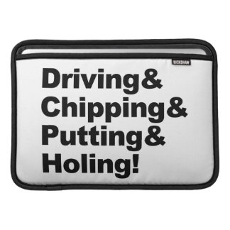 Capa Para MacBook Air Driving&Chipping&Putting&Holing (preto)