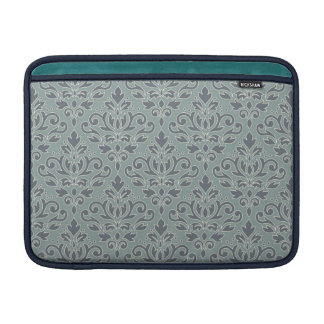 Capa Para MacBook Air Enrole a cerceta do azul do creme da cor damasco