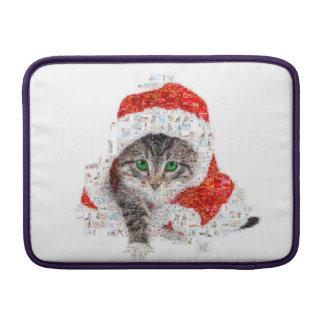 Capa Para MacBook Air gato de Papai Noel - colagem do gato - gatinho -