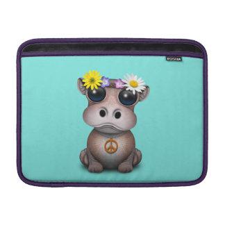 Capa Para MacBook Air Hippie bonito do hipopótamo do bebê
