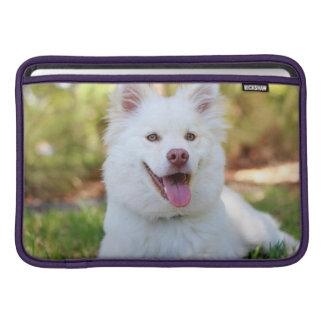 Capa Para MacBook Air Luva de ar macia branca bonito de Macbook do cão