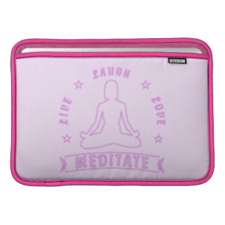 Capa Para MacBook Air O amor vivo do riso Meditate texto fêmea (o néon)