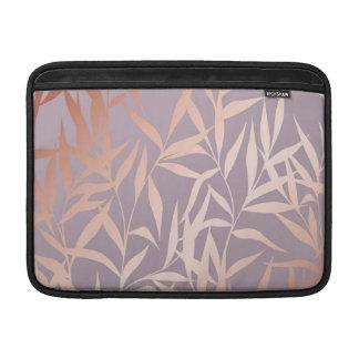 Capa Para MacBook Air ouro cor-de-rosa, asiático, folha, teste padrão,