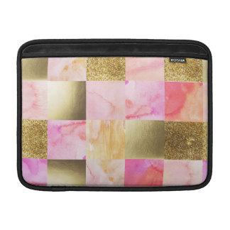 Capa Para MacBook Air ouro, pastels, cores de água, quadrados, colagem,