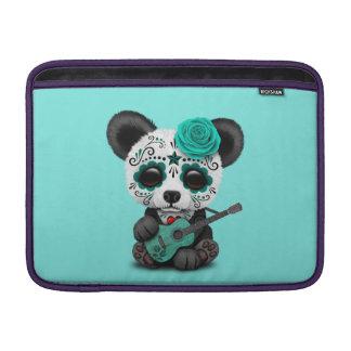 Capa Para MacBook Air Panda azul do crânio do açúcar que joga a guitarra