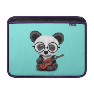 Capa Para MacBook Air Panda do bebê que joga a guitarra albanesa da