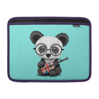 Capa Para MacBook Air Panda do bebê que joga a guitarra britânica da