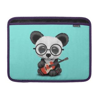 Capa Para MacBook Air Panda do bebê que joga a guitarra canadense da