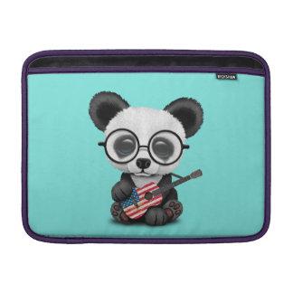 Capa Para MacBook Air Panda do bebê que joga a guitarra da bandeira