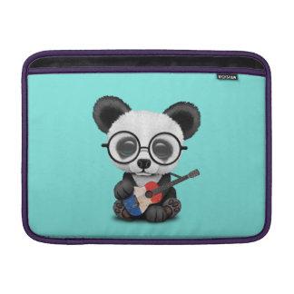 Capa Para MacBook Air Panda do bebê que joga a guitarra francesa da