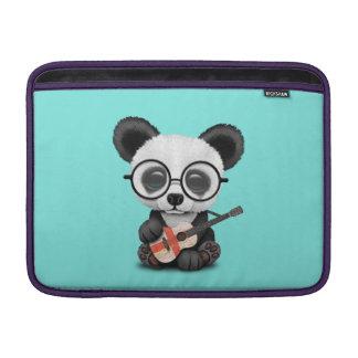 Capa Para MacBook Air Panda do bebê que joga a guitarra inglesa da