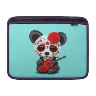 Capa Para MacBook Air Panda vermelha do crânio do açúcar que joga a