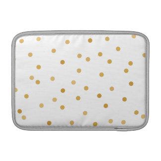 Capa Para MacBook Air Pontos modernos elegantes dos confetes do ouro
