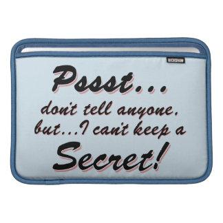 Capa Para MacBook Air Pssst… eu não posso manter um SECRETO (o preto)