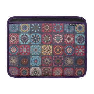 Capa Para MacBook Air Retalhos do vintage com elementos florais da